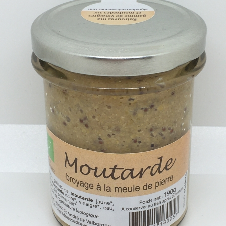 Moutarde nature 190g